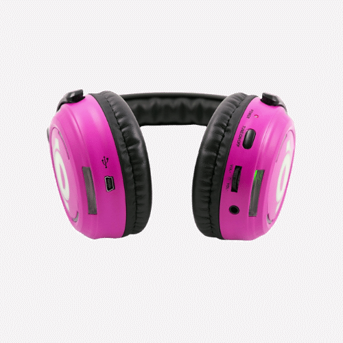 Pink LED Silent Disco headphones for hire