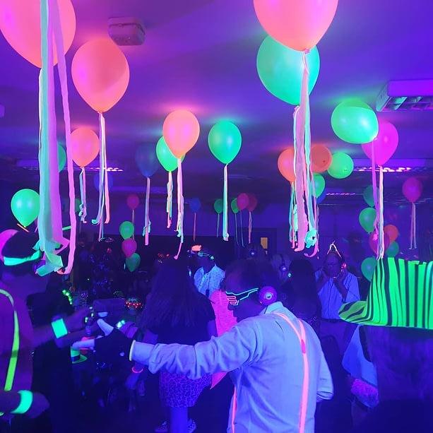 Neon / UV theme party ideas & birthday