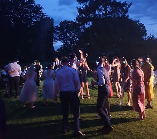 Silent disco hire for garden parties outside