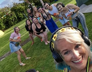 Hire silent disco headphones and have a silent disco at home